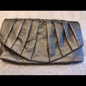Charlotte Russe pewter clutch